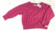 NWT $105 Twelfth Street Girl By Cynthia Vincent Pink Sweater Blue Stripes Button