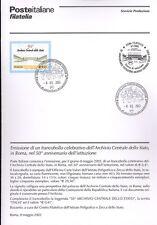 ITALIA 2003 ARCHIVIO CENTRALE  BOLLETTINO COMPLETO DI FRANCOBOLLI ANNULLO FDC