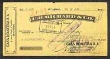 BILL OF EXCHANGE SATU-MARE ROMANIA CASA NOASTRA S.A. REVENUE STAMP 1928