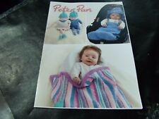 Peter Pan Double Knit One Size Pattern P1291 Blankets and Pixies