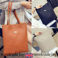 Casual Womens Faux Leather Handbag Bags Simple Large Messenger Shoulder Bag New