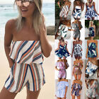 Fashion Womens Summer Beach Mini Playsuit Ladies Jumpsuit Beach Shorts Dress