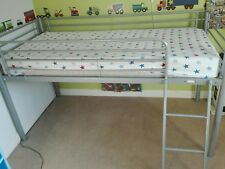 Child's Cabin bed mid sleeper metal frame and ladder (Bed only no Mattress)