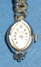 Vintage Gruen Precision 17 Jewel 10K RGP White Gold Swiss Ladies WRISTWATCH