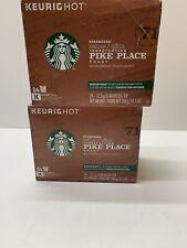 Starbucks Coffee Keurig K-Cups Decaf Pike Place Roast Med Roast 48 Ct Exp 1/20