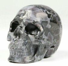"2.0"" Gabbro Carved Crystal Skull, Realistic, Crystal Healing"