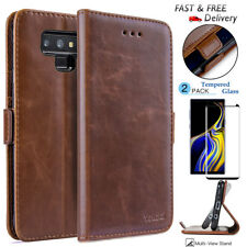 For Samsung GALAXY Note 10 S8 S9 Plus Leather Flip Wallet Case Cover Stand Pouch