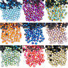 Color AB DMC Hot fix Flat Back Crystal Rhinestones Art Mix Iron On Top Quality