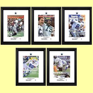 "Dallas Cowboys' Five Super Bowl Championships — 11""x14"" Commemorative Poster Set"