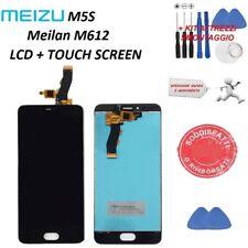 LCD MEIZU M5S DISPLAY MELIAN M612 5,2'' VETRO SCHERMO + KIT ATTREZZI NERO 5,2''
