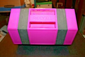 """Rolykit Pink 42"""" Roll Up Storage Case Tackle Box Portable Crafting Beading Lego"""