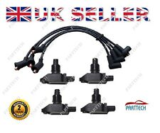 MAZDA RX8 4 x IGNITION COIL PACK SPARK PLUG LEADS - SILICONE- N3H118100..