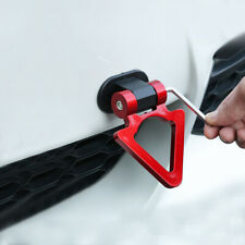 Universal Car Red ABS Triangle Track Racing Style Tow Hook Look Decoration syt