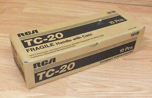 RCA (TC-20) 10 Premium Quality Compact VHS / VHSC Videocassettes **NEW**
