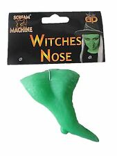 Green Fake Large Nose With Warts Unisex Fancy Dress Party Halloween Costume