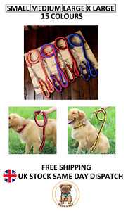 Nylon Braided Traction Rope Lead Collar Set Martingale Chain Collar Lead Set