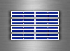 4x sticker decal car stripe motorcycle racing flag bike moto quebec canada