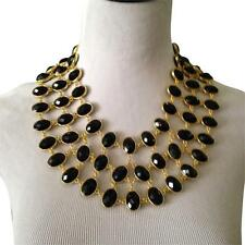 SOLD OUT AMRITA SINGH REVERSIBLE GREEN/BLACK STATEMENT CABOCHON BIB NECKLACE