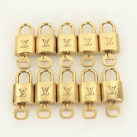 Authentic LOUIS VUITTON Padlock & Key Hand Polished (10sets) #03C267A