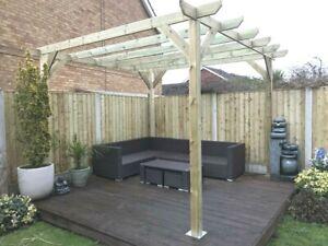 B GRADE 3.6m x 3.6m x 2.4m timber wooden garden gazebo pergola kit