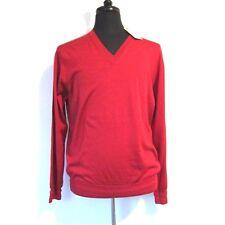 j-1752182 NEU Brioni Maroon V-Ausschnitt Pullover Sweatshirt Hemd Größe XL