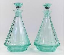 Pr Antique Moser Facet Cut Perfume Bottles Lot 78