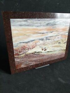 MOSAIC STONE PICTURE, Rare Stone Artwork, with Jasper, marble, agate, Granite.