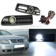 2x White LED Fog Light Lower Bumper Grilles For VW Jetta Bora MK4 1998-2004 New