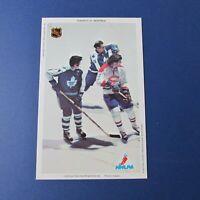 MONTREAL CANADIENS TORONTO MAPLE LEAFS 1971-72 Postcard  Dave Keon  Marc Tardif