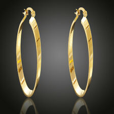 Fashion 18k Yellow Gold Filled Hoop Dangle Stud Earring Wedding Party  Jewelery