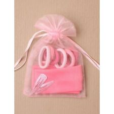 10 Pink Organza gift bag 60 Bobbles 20 Clip 10 Headband Party small Child size