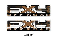 """FX4 Off Road Truck Bed Decal Set For Ford F150 09-14 Vinyl Stickers 17""""X4"""" MUD"""