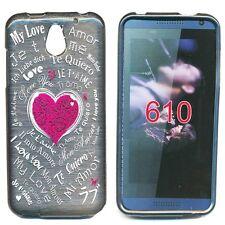 Coque Housse gel Amour pour HTC Desire 610