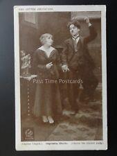 Charlie Chaplin IMPRESSIVE CHARLIE Red Letter Photocard c1915