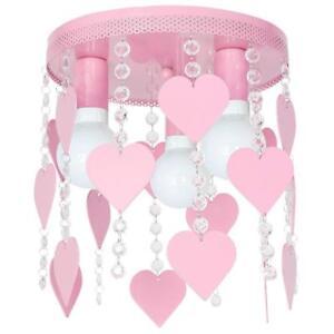 Deckenleuchte Deckenlampe Kronleuchter Hängelampe - ELZA HERZ 3 - Rosa
