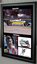 "Rene Arnoux, Renault RE30B Framed Canvas Signed Print ""Great Gift or Souvenir"""