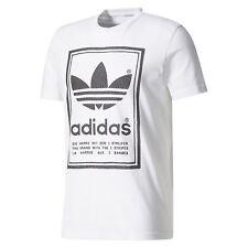 Adidas Originals HOMBRE Blanco Japón Archive Camiseta Vintage Retro