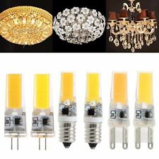 Dimmable G4 E14 G9 COB SMD LED Silicone strass lampe ampoule 9W