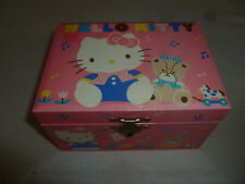 VINTAGE SANRIO HELLO KITTY JEWELRY BOX TRINKET 1988 STORAGE GIRL CHILD