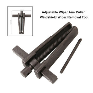 1X Car Black Iron Adjustable Wiper Arm Puller Windshield Wiper Removal Tool Kit