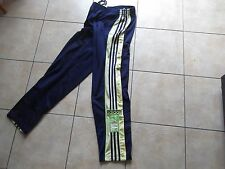 """RARE VINTAGE ADIDAS NAVY BLUE / YELLOW TRACKSUIT BOTTOMS SIZE 34"""" D6 F180"""