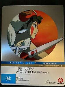 Princess Mononoke - Blu Ray - Steelbook - Studio Ghibli - Free Postage - Used