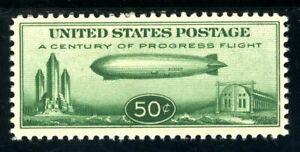 USAstamps Unused VF US 1933 Airmail Zeppelin Scott C18 OG MVLH