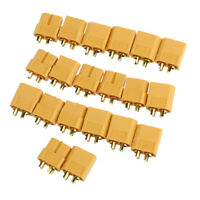 20pcs/10Pairs XT60 Male/Female Bullet Connectors Plugs for RC LiPo Battery