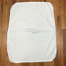 White Thermal Waffle Weave Baby Blanket Bebe' A Go Go Cotton Swaddle Unisex AI