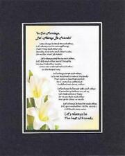 Handmade Inspirational Marriage poem - In Our Marriage, Let's Always Be Friend