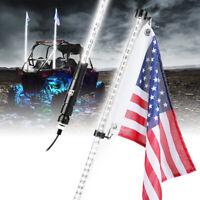 Xprite 5ft LED Whip Lights Antenna w// Flagpole for ATV UTV RZR Off-Road Buggy