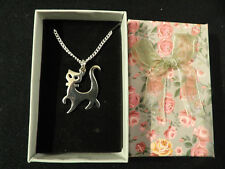 Brand New  925 Sterling Silver Cat Pendant, Necklace