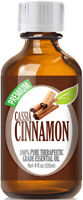 Cassia Cinnamon Essential Oil (100% Pure & Natural) Glass Bottle + Euro Dropper