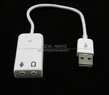 External USB 2.0 3D Virtual 7.1 Channel Audio Sound Card Adapter PC Laptop A93